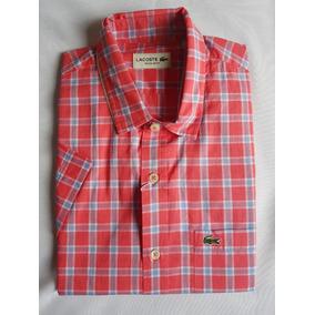 1202a66176085 Camisa Xadrez Lacoste - Camisa Manga Curta Masculino no Mercado ...