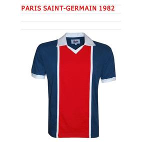 bbf00e15b Camisa Retr Paris Saint Germain Escudo no Mercado Livre Brasil