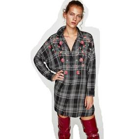 d578f1643 Camisa Zara Bordada Mujer - Ropa y Accesorios en Mercado Libre Argentina