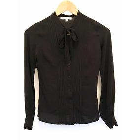 7adae00577 Camisa Social Feminina Seda Com Laço Ateen 36