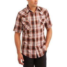 7b7a5db9ea Camisa Vaquera A Cuadros Boton De Presion Talla Real 3xl