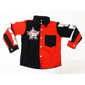 55c1ee6f26d2e Camisa Infantil Country Rodeio Preta Vermelha Monster Ml