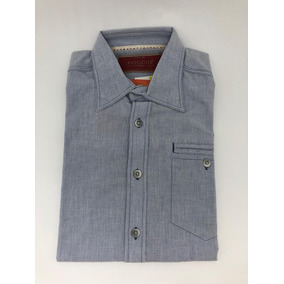 7c83c40162e0d Camisa Poggio Riscas Azul Turquesa - Camisa Masculino no Mercado ...