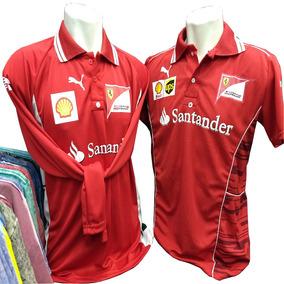 f592ed40409f8 Camisa Escuderia Ferrari Kit 2 Camisas Manga + Manga Curta