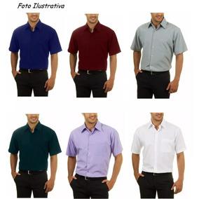 2c972a4a1 10 Camisas Social Casual Masculina Manga Curta Revenda