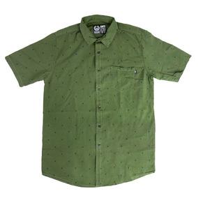 a7367c847092f Camisa Botones Hombre Casual Verde Antifashion Antif136 Core