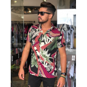 93d536439aff8 Camisa Manga Curta Masculina Estampada - Camisa Manga Curta ...