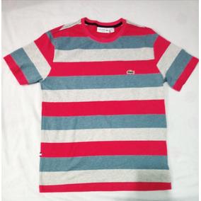 99d8d8395b209 Camisa Lacoste Grande Branca Listras - Camisa Masculino no Mercado ...