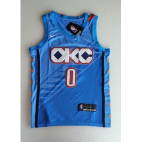 2da29f6b8 Camisa Oklahoma City Thunder - Camisa Manga Curta no Mercado Livre ...