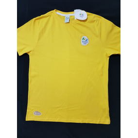 937d7b16a1118 Camisa Seleção Time Brasil Olimpiadas Rio 2016 Logomarca Bra