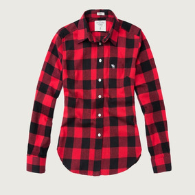befb2ae228 Formidable Camisa Abercrombie And Fitch A f Mujer Leñador