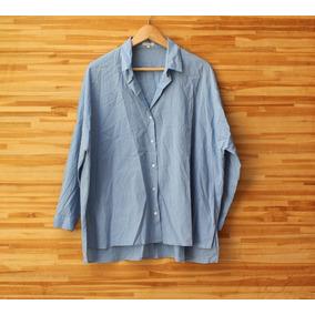 f17737151 Camisa Social Manga Longa Le Lis Blanc Azul Tam 42 Seminova