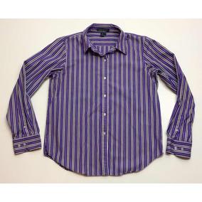df8b7f2acf4cc Camisa Polo Ralph Lauren De Vestir Rayas Violeta Talle M