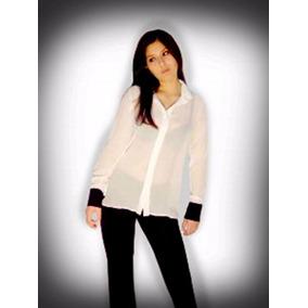 144e29f5425e9 Camisas Jean Combinada Con Gasa - Ropa y Accesorios en Mercado Libre ...