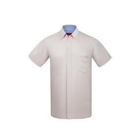f67397400b3 Camisa Blanca Manga Corta - Camisas Manga Corta de Hombre Caqui en ...