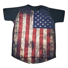 24e580858f Camisa Long-line Bandeira Eua Oversized Masculina Compre Já