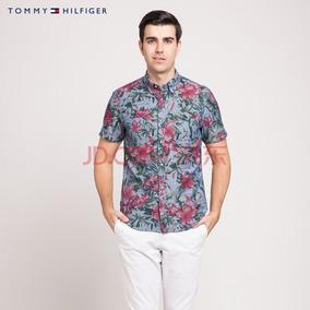 f4ea15f01 Tommy Hilfiger Camisa Flores Playa Talla M