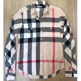 b68e20dabec6f Camisa Burberry Brit - Camisa Masculino no Mercado Livre Brasil