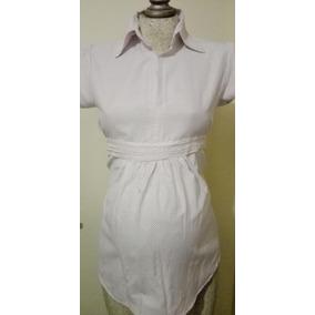 71147a5fe491e Blusa Camisa De Vestir Maternidad Casimir Fajilla