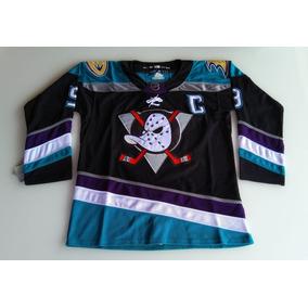 d7f89cdad Camisa Nhl Camisa Anaheim Ducks Kariya Preta Nova