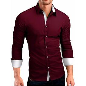 9f6d2df5d Kit 3 Camisas Camiseta Social Masculina Slim Fit Manga Longa