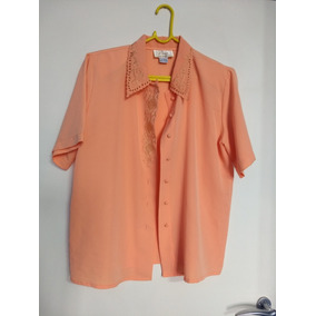 80045ddade Camisa Seda Feminina - Camisa Manga Longa Feminino Marrom claro no ...