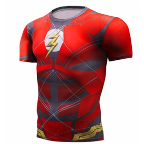 0179607623b59 Camisa Compressão Flash Crossfit Cosplay Academia