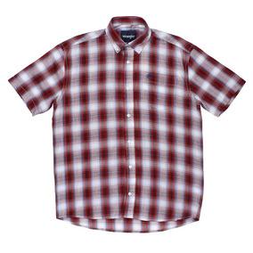 511e48d3c Camisa Masculina Manga Curta Xadrez Vermelho Wrangler 23988