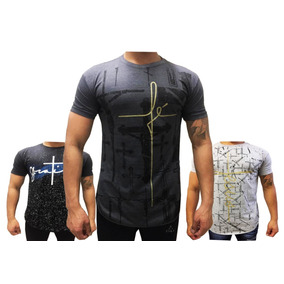 0b0064453 Revenda 05 Camisa Masculina Longline Estampadas Oversized