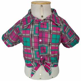 9ecf1f364f16a Camisa Xadrez Feminina De Festa Junina Infantil 2 A 12 Anos
