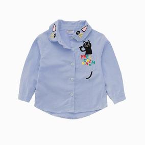 760323734 Camisa De Cambray Para Niñas - Camisas Azul claro en Mercado Libre ...