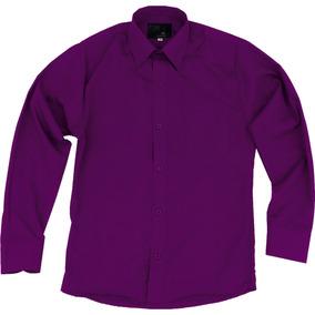 3fc3af060475f Camisa Vestir Infantil Juvenil Bailables Morada 2 A 16