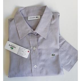 6bfd10c056a64 Camisa Social Feminina Lacoste Original Cinza T36