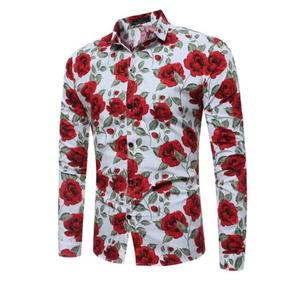 0b1fbe6aa Kit Camisa Floral - Camisa Manga Longa Masculinas no Mercado Livre Brasil