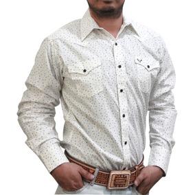 c63f897a56 Camisa Blanca Vaquera Para Hombre Con Estampado Rodeo Carte