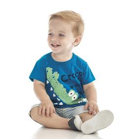 86b30b09e74a4 Camisa Bebê Masculino Bito Jacaré