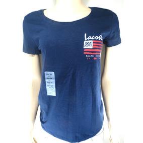 29c70f9592cad Camisa Lacoste Feminina Original Azul Tam. 34