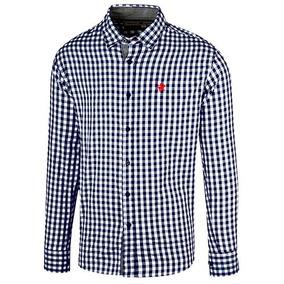 436f2ad742eee Camisa Vestir Polo Club Hombres Mlarga Alg Azul 40687 Dtt