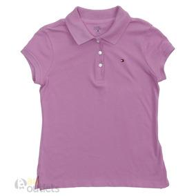 410c0730c9a97 Camisa Polo Infantil Feminina Tommy Hilfiger Violeta