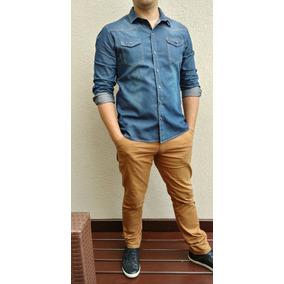 60b3e925db28e Kit Com 10 Camisas Jeans Masculina Homem Social Sportfino