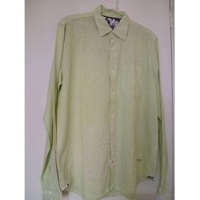 d81b4f223 Camisa Masculina Manga Longa Linho Tamanho M Cor Verde Água