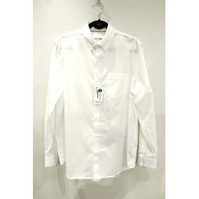 b29c7c57997db Camisa Lacoste Manga Longa Masculino Branca