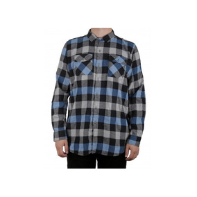 11c79a1e6e4de Camisa Manga Larga Azul Franela Antifashion Antif149 Ecko
