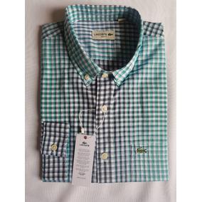 77d86f9b24782 Camisa Xadrez Lacoste - Camisa Masculino no Mercado Livre Brasil
