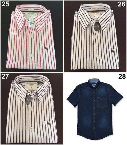 camisas abercrombie y hollister originales caballero elige