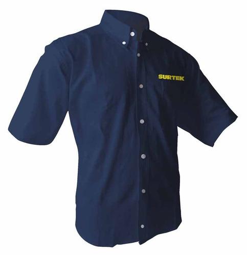 camisas azules manga corta hombre surtek camc102cm hm4