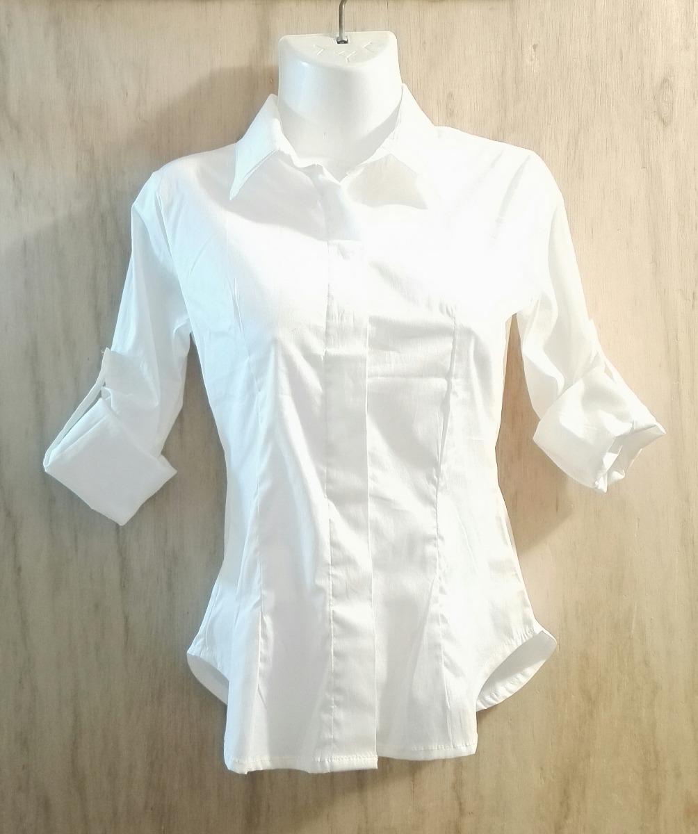 Camisas Blancas Casuales De Popelina Stretch Para Dama - Bs. 21.953 ... 7024a7a5400