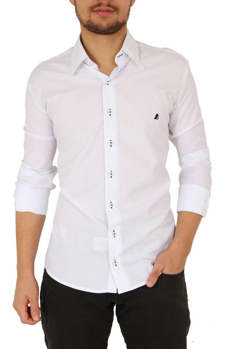 ef286dab0 camisas branca social manga comprida slim masculina. Carregando zoom.