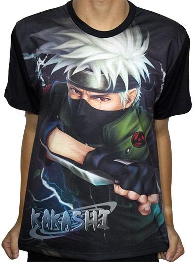 Camisas Camiseta De Animes - Kakashi Naruto - Full Estampa - R$ 63,99 em Mercado Livre