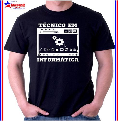 camisas camiseta para curso técnico em informatica estampada
